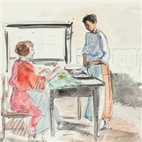 zwei frauen in der küche by henri lebasque