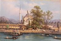 blick auf istanbul, die kilic ali pasha moschee bzw. blick auf istanbul bei nacht by giovanni renica