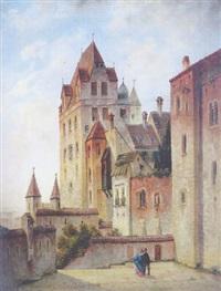 ansicht der burg traunsitz in landshut by johann baptist kreitmayr