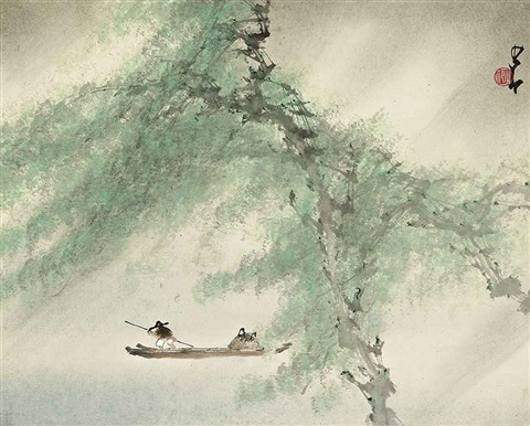 boating in spring by zhao shaoang