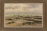 cockle gatherers at low tide by emile louis vernier