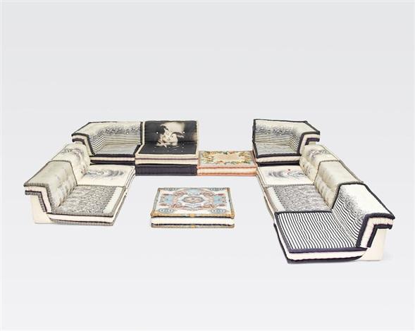 mah jong modular sofa by hans hopfer and jean paul. Black Bedroom Furniture Sets. Home Design Ideas