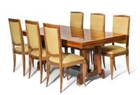 esstisch mit 6 stühlen by jules leleu