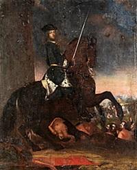 konung karl xii till häst by anna maria ehrenstrahl