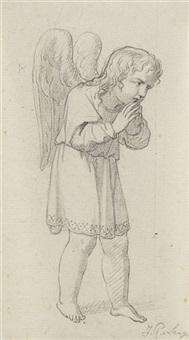 betender engel by johann peter von langer
