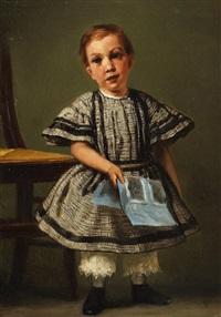 porträt eines kindes by wilhelm von lindenschmit the younger
