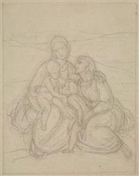 maria und elisabeth mit christus und johannes by gustav heinrich naeke