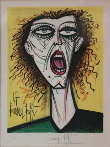 portrait dune chanteuse by bernard buffet