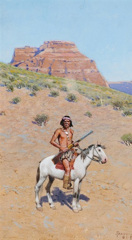 apache warrior by henry f farny