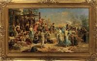 cleopatras fest zu ehren cäsars by emmanuel oberhauser