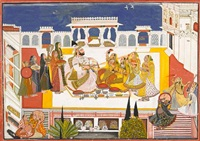 rawat gokal das celebrating holi in the zenana by bagta