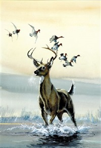 deer with ducks by ralph j. mcdonald