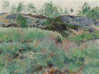 blommande landskap by gustaf albert