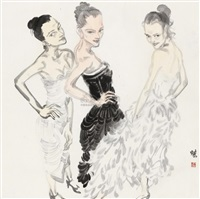 three women by liu xijie