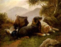 two hunting dogs by william benson