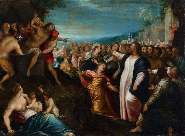 auferweckung des lazarus by hans rottenhammer the elder