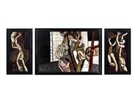 aufbruch der artisten (triptych) by günter firit