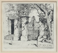the old smythe gate, charleston by alfred heber hutty