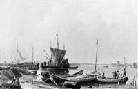 küstenfischer auf der zuidersee by karl adloff