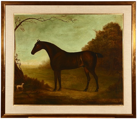 honorable george rice trevors periwinkle horse portrait by john miles of northleach