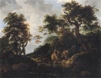 bergslandskap med träd och vatten by per gustaf von heideken