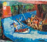 don quijote y sancho en la aventura del barco encantado by ramón aguilar moré