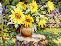 sunflowers by anatoli fomine