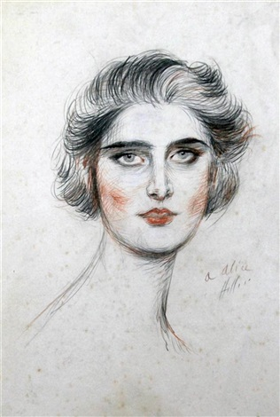 portrait of alice by paul césar helleu