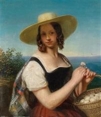 das eierlieschen, portrait der augusta karoline von cambridge (1822 -1916) by george friedrich reichmann