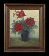 still life with red roses by marie atkinson hull