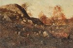 rocks near winthrop beach by charles j. bridgman