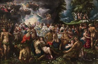 the marriage of peleus and thetis by gillis van valckenborch