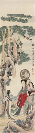 瑶姬祝寿 (beauties) by huang shanshou
