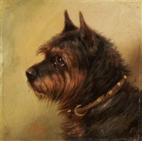 hundeportraits (pair) by j. brown