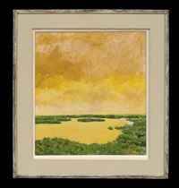 near des allemands; crypresses in the bayou; marsh at lacombe #1 (3 works) by jack haynes smith