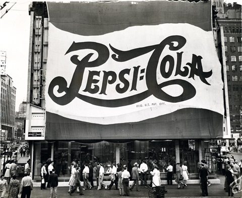huge pepsi cola sign by leo lieb