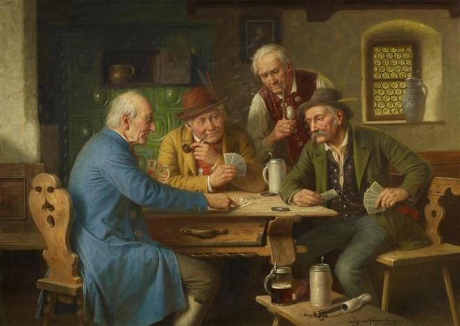 kartenspieler by josef wagner hohenberg