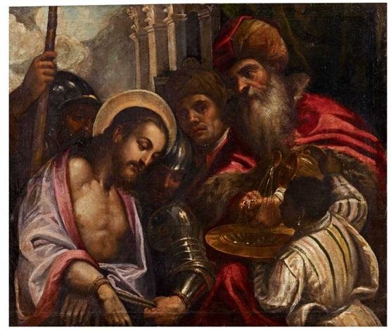 christus vor pilatus by jacopo palma il giovane
