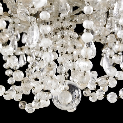 rock crystal chandelier louis xiv france