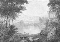 capriccio landscape with ruins by joseph murray ince