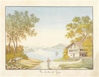 vue du lac de zoug by eugene humbert