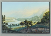the confluence of the ill and the rhine by johann ludwig (louis) bleuler