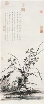兰石图 (orchid and stone) by jiang tingxi
