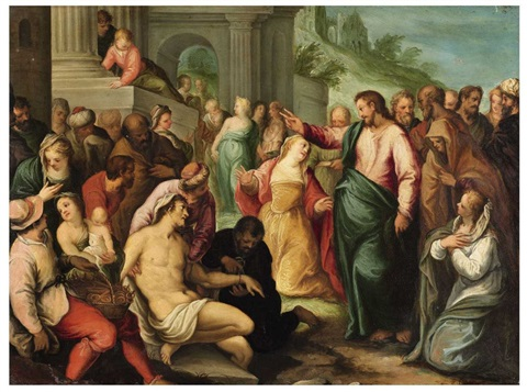 the resurrection of lazarus by hans rottenhammer the elder