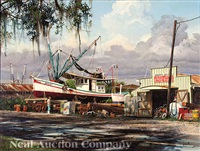 the jerry lynn shrimp boat at herbert's dry dock by james l. kendrick iii