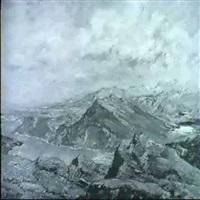 hochgebirgslandschaft mit see by ludwig bolgiano