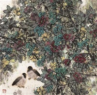 flowers and birds by liang shimin