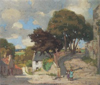 a corner at ceres, fife by john guthrie spence smith