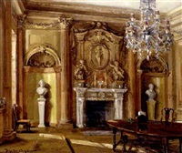 interior of a room at the duke of westminster's house, london, probably 53 davies street by nestor cambier