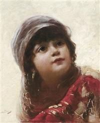 porträtstudie eines bauernmädchens by bernd piakow